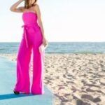 lady in a pink romper on the beach (Jumpsuits or Rompers)
