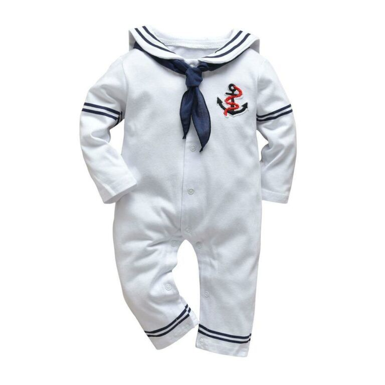 Baby onesie navy outfit