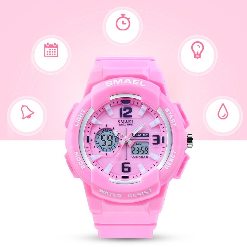 Women's Two Color Design LED Sport Watch